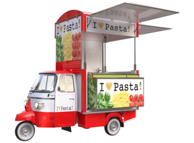 Food truck Ape Piaggio for sale pasta