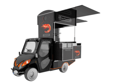 Gea, the electric vehicle to sell food