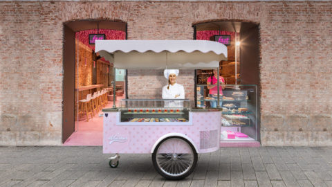food cart for pastries